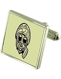 Máscara de gas del ejército grabado Keepsake Cuadro ...