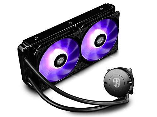 DeepCool Maelstrom 240T RGB Dissipatore Liquido CPU Cooler AIO Silenzioso (Profesional) con 2(120mm) PWM Ventole RGB, Ottimo Rapporto Prezzo/Prestazioni, 3 Anni di Garanzia