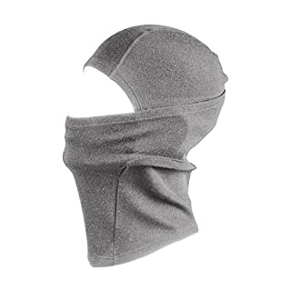Merino Wool Balaclava Warm Thermal Face Mask - 100% Merino with 230gsm Base Layer for Extra Warmth. Comfortable Breathable Moisture Wicking & Wind Resistant. Suitable in Winter & Summer. (Grey)