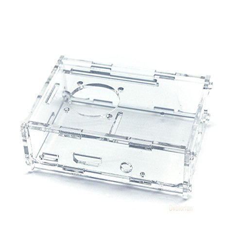 TBS®2100 New Raspberry Pi Model B+ (B Plus) Case Transparent Cover Box Enclosure with Mini Fan