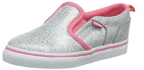 Vans Baby Asher V Toddler Unisex Sneaker, (Iridescent) Strawberry Pink Vhl, 23.5 EU Signature-slip-ons