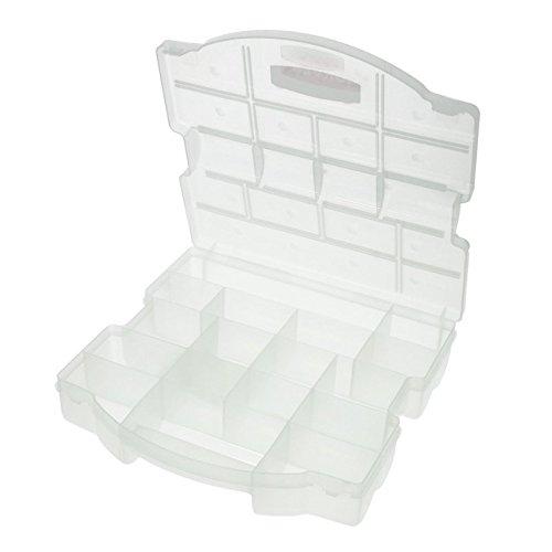 Preisvergleich Produktbild Curver Sortimentskasten transparent 26,5x26,5x7cm Kleinteile Kiste Kasten Sortimentskiste Sortiment Hobby