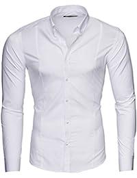 MERISH Slim Fit Hommes Chemise à manches longue Chemise Business Button Down, Modell 204
