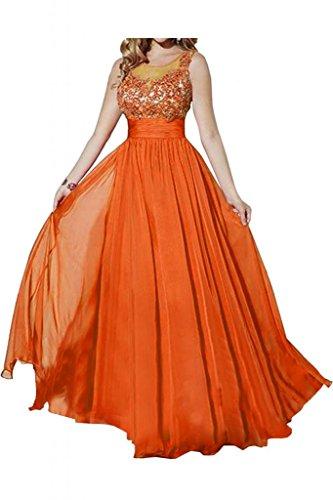 Toscana sposa alla moda due-Traeger Chiffon stanotte un'ampia Party sposa giovane vestimento per toccare Bete ball vestimento Orange