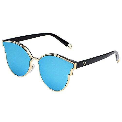BiuTeFang Mens Sunglasses Women Fashionable Men and Women Retro Sunglasses Personality Trend Sun Glasses Round Sunglasses