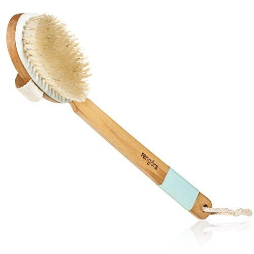 Körperbürste, Peeling Bürste zum trockenbürsten - für Lymphdrainage, Cellulite-Behandlung & Massage