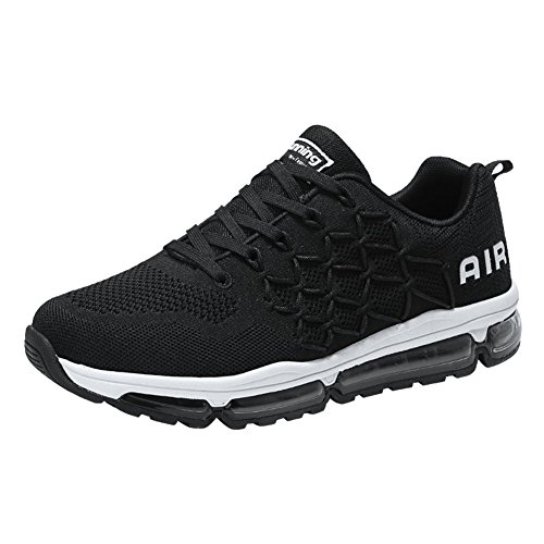 Uomo Donna Air Scarpe da Ginnastica Corsa Sportive Fitness Running Sneakers Basse Interior Casual all'Aperto Black 40