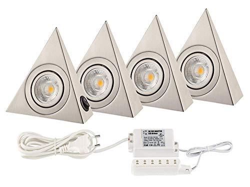 Küchenlicht Küchen Unterbauleuchten COB LED je. 160 Lumen - Basis Set mit VIER Dreiecken 160 Lumen Led