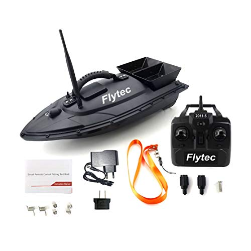 CHANNIKO-DE Flytec 2011-5 Fischerei Tool Smart RC Köder Boot Spielzeug Dual Motor Fish Finder Fisch Boot Fernbedienung Fischerboot Speedship