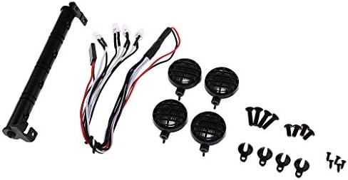 MagiDeal Lampe LED Lumières de Toit Multi-fonction Pour 1/10 1/10 1/10 1/8 RC HSP Traxxas CC01 4WD Axial SCX10   Excellente Qualité  575906