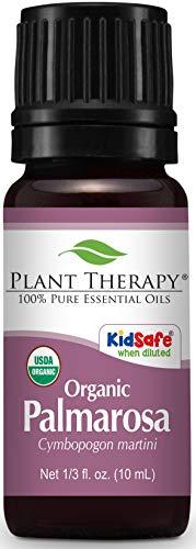 Palmarosa Bio ätherisches Öl für Pflanzentherapie, 10 ml, 100% rein, unverdünnt, therapeutisch