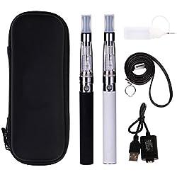 Conpush Cigarrillo electrónico CE 5 Pluma de Vape Set para no fumadores (Sin nicotina, Carga USB, Atomizador * 2, Blanco + Negro)