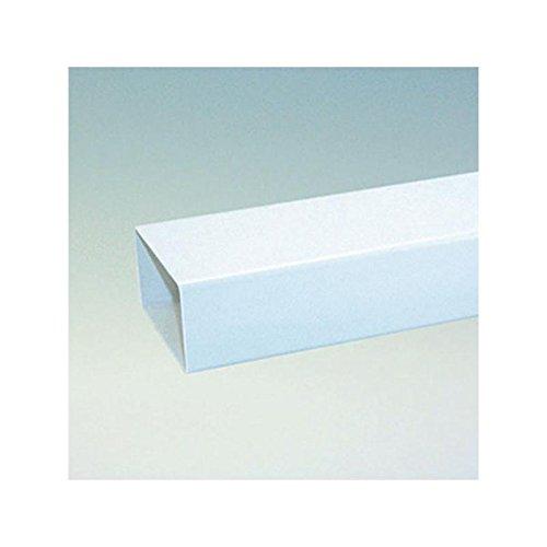 Flachkanal 150er Abluftsystem Vierkantrohr L 100 cm in weiß Ablufttechnik ohne Muffe / Kupplung Abluft