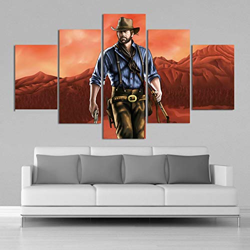 MIYCOLOR HD Red Dead Redemption 2 Posters 5 Piezas