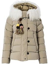 PEUTEREY Giubbotto piumino pelliccia mongolia zip laterali donna, TAKAN SEMIFUR