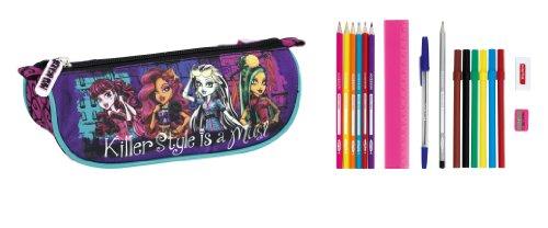 Monster High – Portatodo Lleno, 17 Piezas, 20 x 9 x 8 cm (SAFTA 811344708)