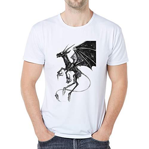 Maglietta per Uomo T-Shirt con Stampa Drago Divertenti Maglia a Manica...