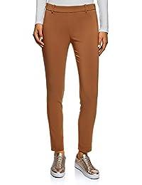 Donna Amazon Marrone Pantaloni it Abbigliamento q7tzytXw
