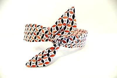 Bandeau rigide graphique orange et noir