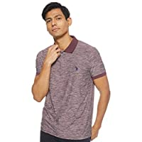 U.S. Polo Assn. Men's Classic Fit Short Sleeve Solid Poly Polo Shirt, Brown (Atwn), Large