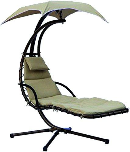 Vigor 9693770 amaca a dondolo modello Resort con lettino marrone