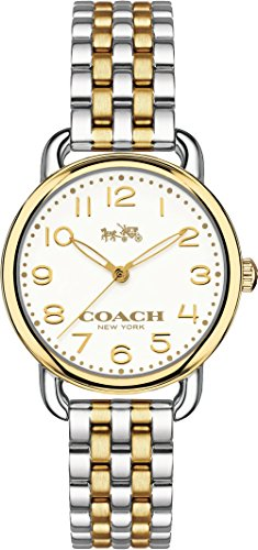 Coach 14502243 Ladies Delancey Two Tone Steel Bracelet Watch