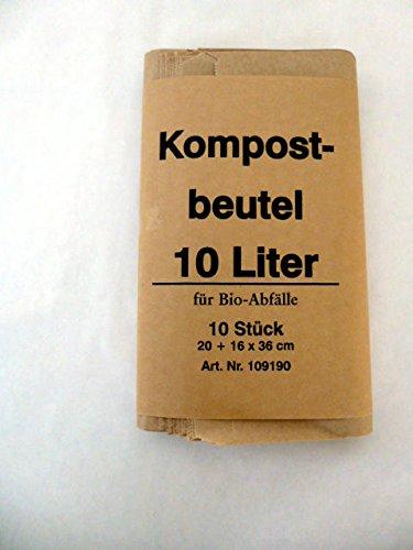 120 St. Bio Kompostbeutel 10 l, 200x160x360 mm, Kompostbeutel, Müllbeutel, Mülltüten, Biobeutel