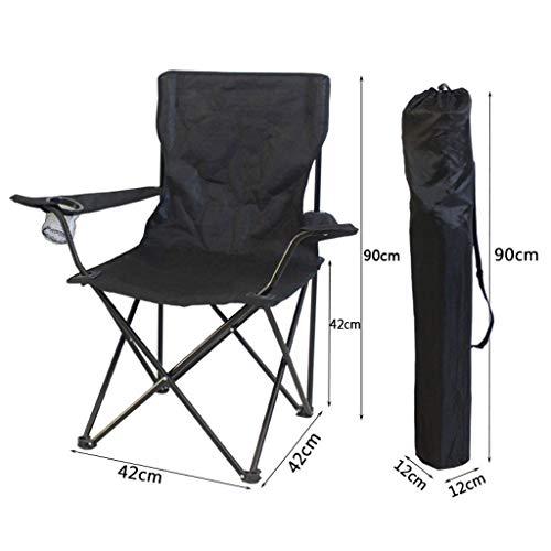 WRZHRXXH Falten Camping Stuhl Im Freien Tragbar Rückenlehne Fischen Stuhl Hocker Einfach Freizeit Malerei Skizzieren Stuhl Direktor Fischen Barbecue Freizeit-Schwarz