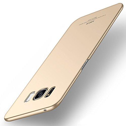 Coque Samsung Galaxy S8 (5,8 pouces), MSVII® Très Mince Coque Etui Housse Case et Protecteur écran Pour Samsung Galaxy S8 (5,8 pouces) - Rouge / RED JY00274 Or