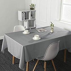 SUO AI TEXTILE - Mantel Impermeable para Cocina o jardín, Tela, Gris, 52x70inch(132x178cm)