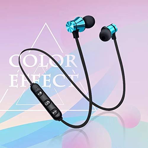 Bluetooth In-Ear Sport Kopfhörer V4.2 IPX5 Schweißresistent Stereo magnetischer Sport Ohrhörer mit 7-10 Stunden Spielzeit, eingebautes Mikrofon für iPhone, Huawei und Samsung