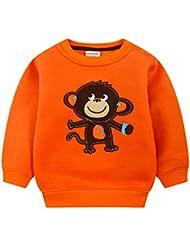 Sudaderas para Niños Navidad ciervos Bebé Camisetas de Manga Larga Niñas Sweatshirt Tops Vine