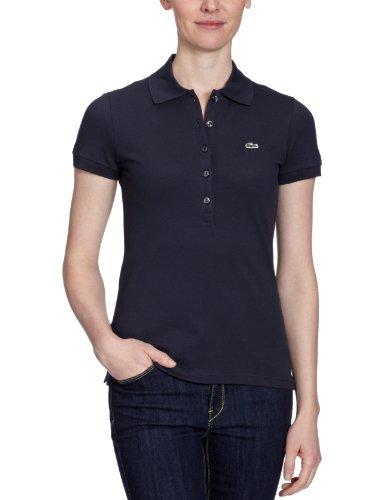 Lacoste Damen Poloshirt Slim Fit, Piqué PF269E-00, Gr. 36, Blau (03M) -
