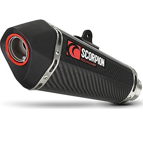 Rya108sysceo Scorpion–Pot d'échappement ovale en carbone–Yamaha Tracer 700complète du système 2016–2017