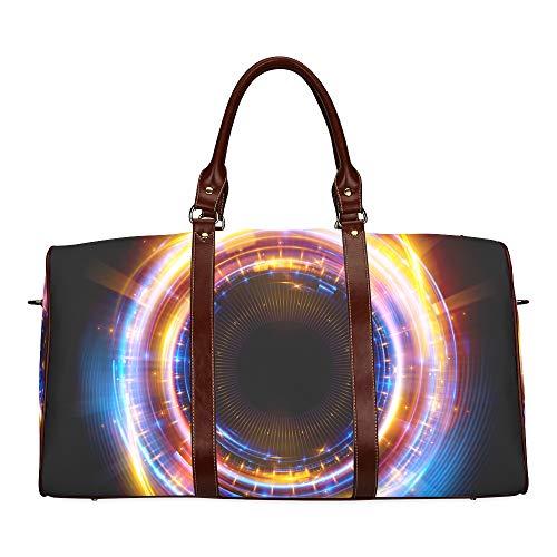Reise-Seesack Shiny Disco Ball On The Ceiling wasserdichte Weekender-Tasche Reisetasche Frauen Damen-Einkaufstasche Mit Mikrofaser-Leder-Gepäcktasche