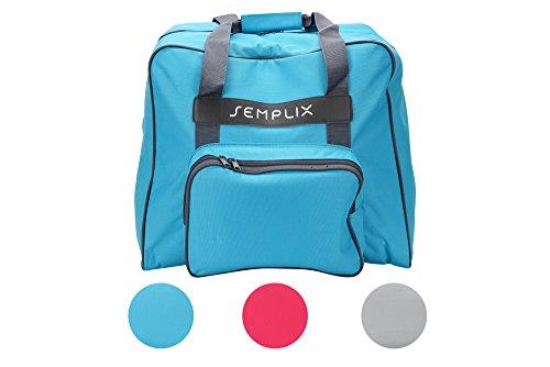 SEMPLIX Overlocktasche/Coverlocktasche 44x38x33cm, Groß, Stabil, für Transport/Aufbewahrung Aller gängiger Maschinen, (türkis)