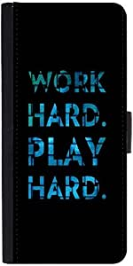 Snoogg Work Hard Play Hard Designer Protective Phone Flip Case Cover For One Plus X