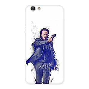 Neo World Man with Gun Back Case Cover for Oppo F1s