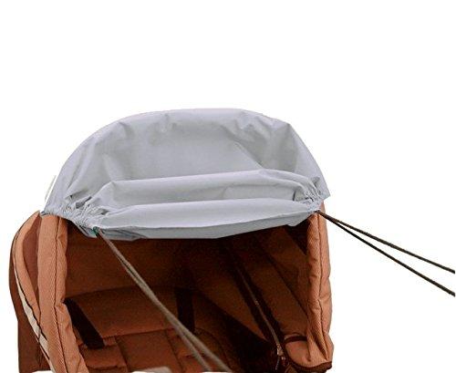 Unbekannt Sonnenmarkise Sonnensegel für Kinderwagen mit UV-Schutz hellgrau