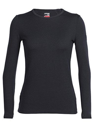 Icebreaker Damen Funktionsshirt Tech Top LS Crewe, Black, L, 100523001
