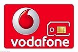 SIM card di Vodafone, senza abbonamento, multifunzione, sim nano e micro per tutti i telefoni, carta SIM di Vodafone [con numero per il Regno Unito]