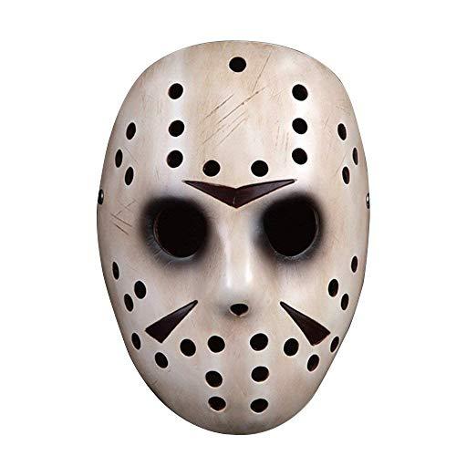 Kunstharz Jason Bronze Maske, XinXun Collector 's Edition Film Thema Kinder Maske für Erwachsene weiß 2 ()