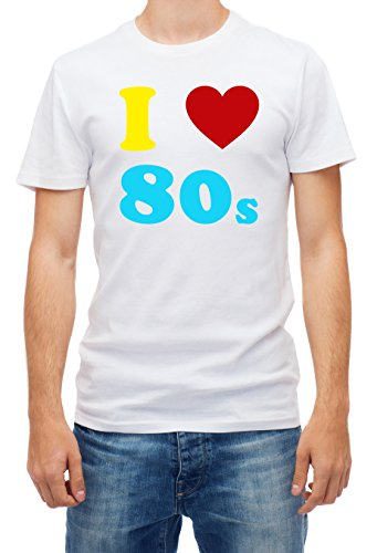 Men's White I Loveheart the 80s T-shirt