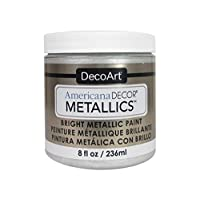 DecoArt Ameri Deco MTLC Americana Decor Metallics 8oz Pearl, 1