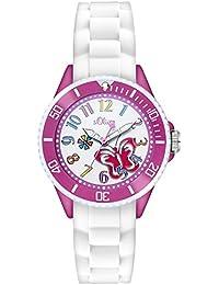 s.Oliver Mädchen-Armbanduhr Analog Quarz Silikon SO-2994-PQ
