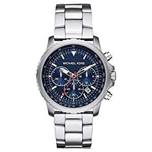Michael Kors Herren Analog Quarz Uhr mit Stainless Steel Armband MK8641