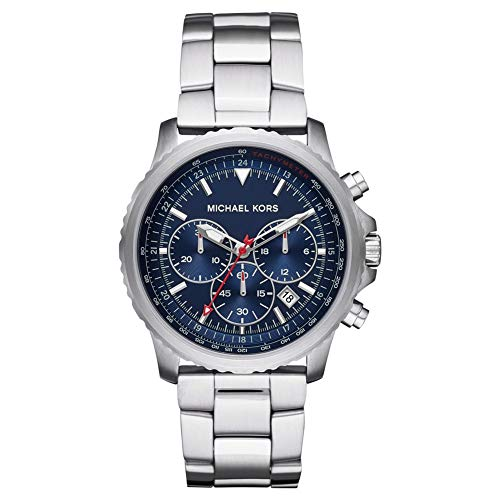 Michael Kors Herren Chronograph Quarz Uhr mit Edelstahl Armband MK8641
