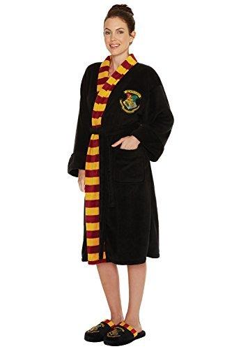 Groovy UK-s Womens Black Harry Potter Hogwarts Dressing Gown