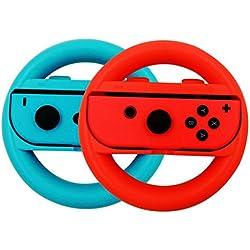 BCLA Joy-Con Wheel per Nintendo Switch Controller- (BlueRed) (Set di 2)
