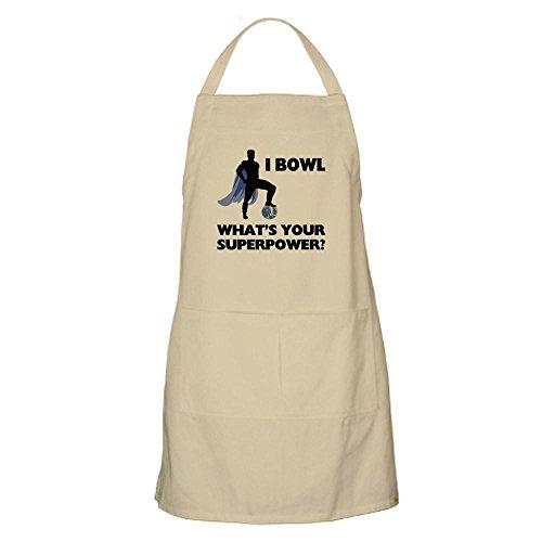 CafePress–Bowling–Superhero Küche Schürze mit Taschen khaki (Bowling Baumwolle Sweatshirt)